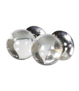 Set of 2 Round Glass Door Knob