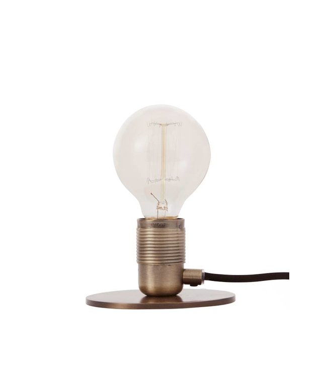 Pad Home Table Lamp Bronze with LED Bulb
