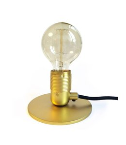 Table Lamp Brass with LED Bulb