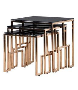 Set of 3 Black Copper Tables