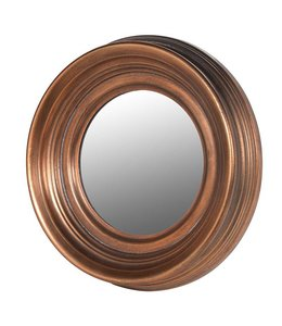 Small Antique Copper Round Mirror