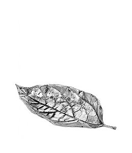 Broste Deco Leaf Silver medium
