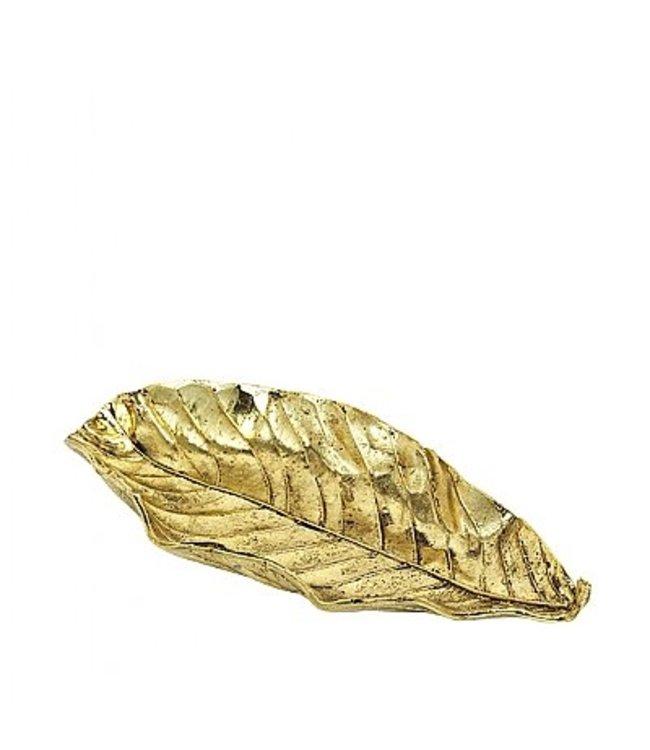 Broste Deco Leaf Brass Finish Large