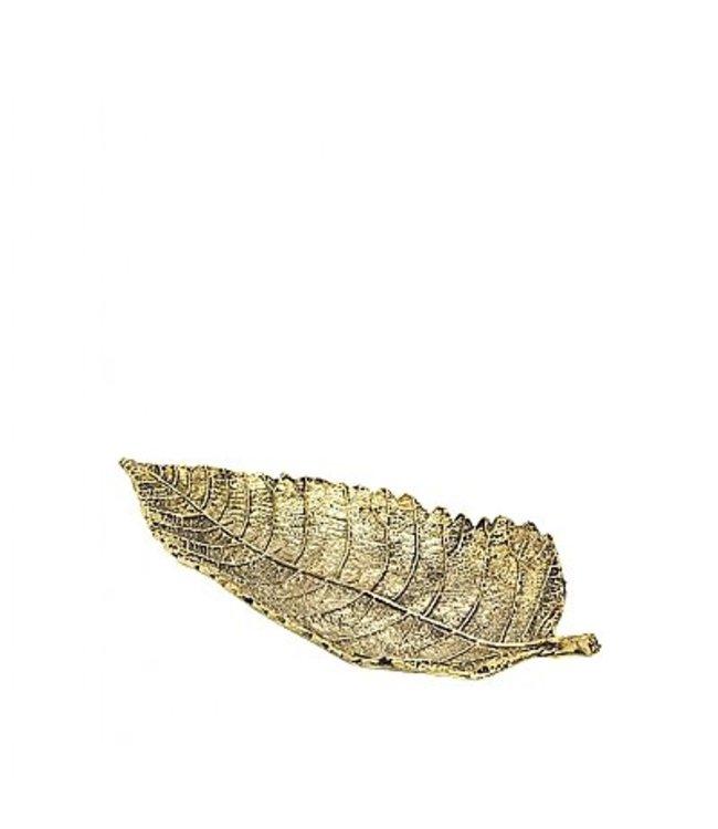Broste Deco Leaf Brass Finish Medium