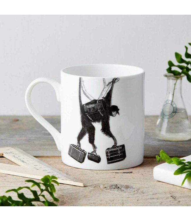 Monkey Business Fine China Mug
