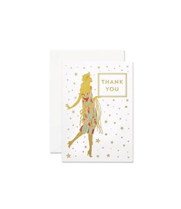 Glamourous Lady Thank you card set