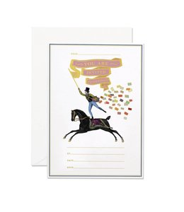 Horse rider invitation set