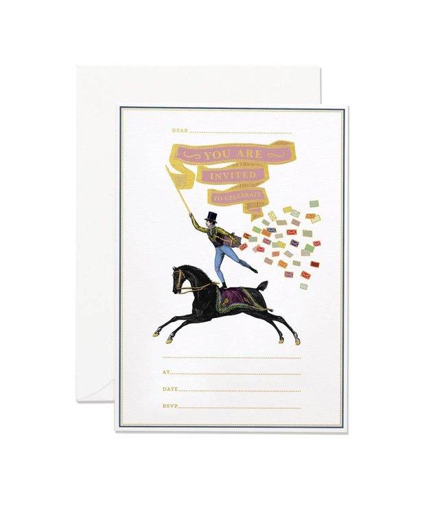 Horse rider invitation set