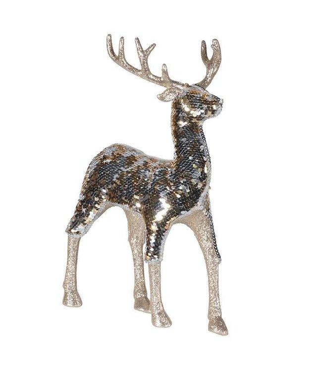 Gold Sequin Deer
