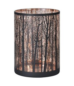 Copper forest tealight holder large