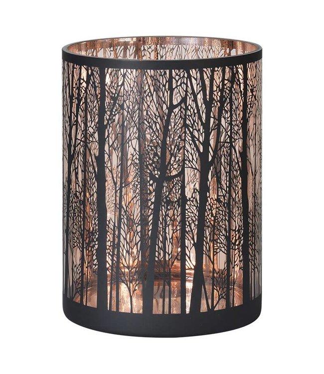 Copper forest tealight holder large
