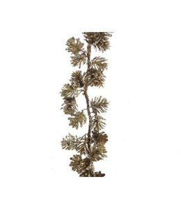 Pine Garland with Pinecones Gold