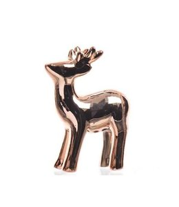 Shiny set of 4 Copper coloured Reindeer