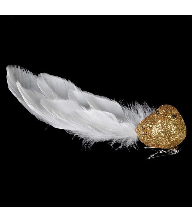 White/Gold Glitter Bird