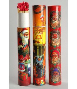 Large Christmas Matches Tube