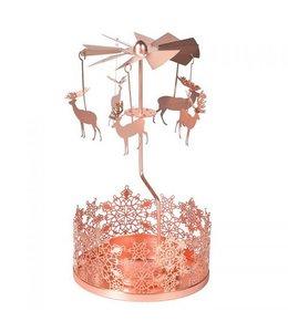 Copper reindeer tealight mobile
