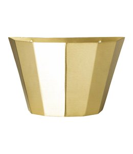 Bloomingville Wall Basket Brass