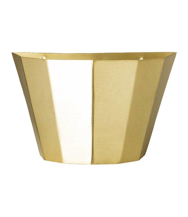 Bloomingville Wall Basket Brass
