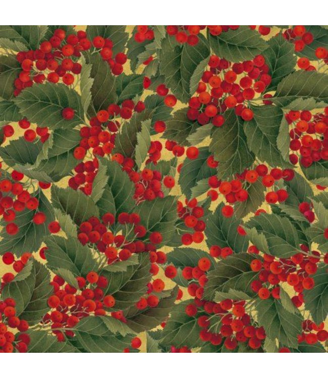 Giftwrap Roll Christmas Berries