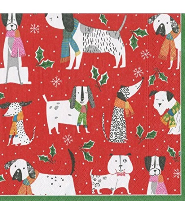 Napkin Christmas Canines