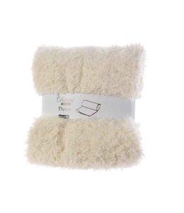 Faux Fur Cream Throw