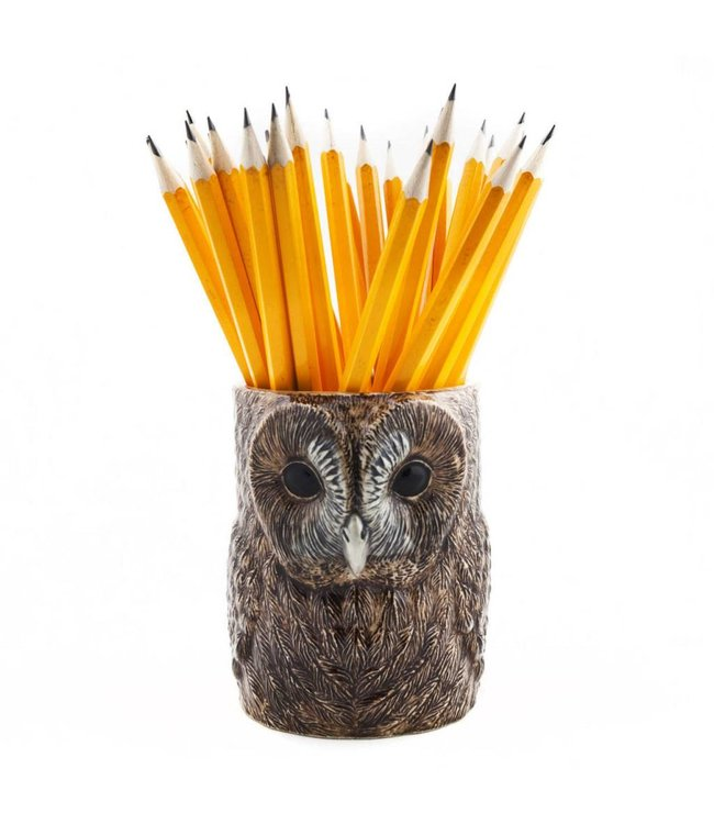 Quail Tawny owl Pencil pot