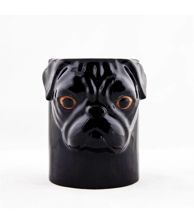 Quail Pug Pencil Pot