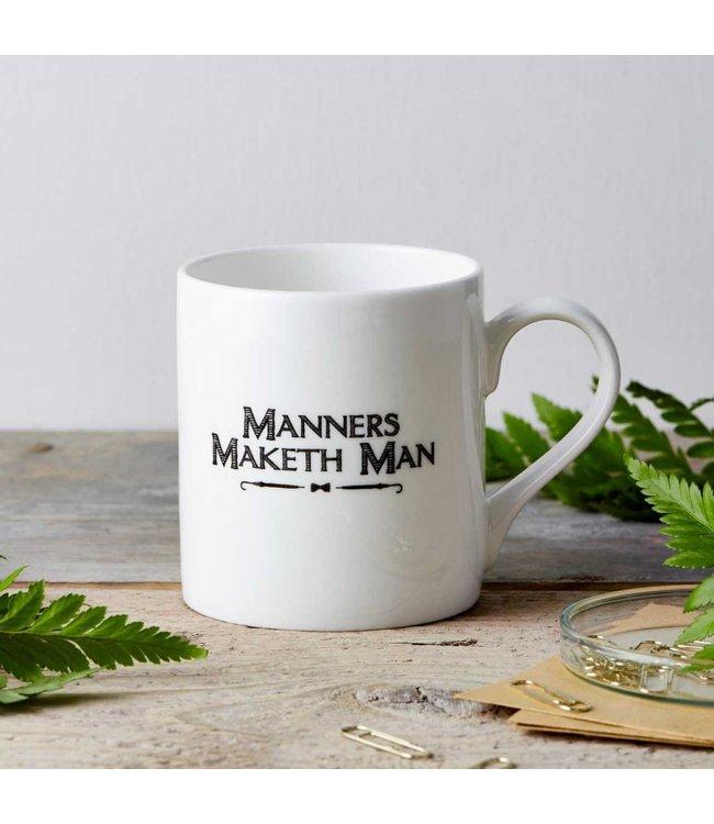 Manners Maketh fine china mug