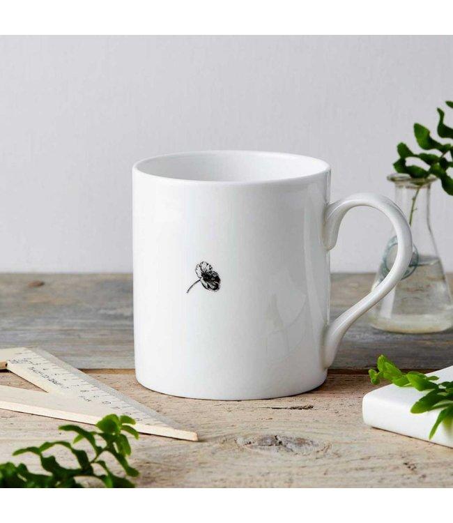 Flower lady fine china mug
