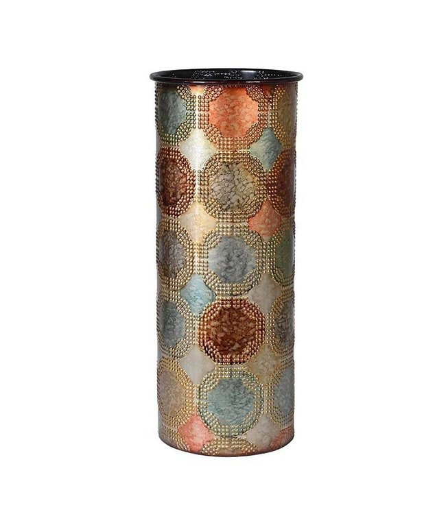 Multi Colour Metal Vase