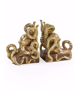 M&R Gold Octopus Book Ends