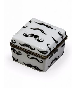McGowan & Rutherford Ceramic Box with Moustache Detail