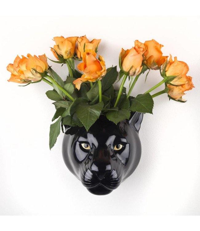 Quail Panther wall vase