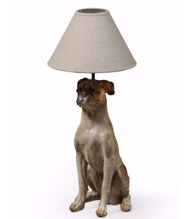 McGowan & Rutherford Sitting dog table lamp with shade