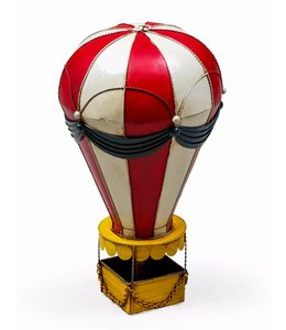 McGowan & Rutherford Antiqued red and white hot air balloon