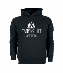 Night Black Men Camping Hoodie