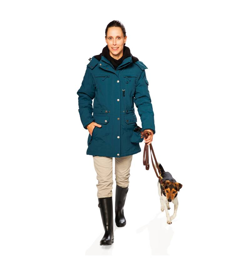 GoodBoy! Damen Winterjacke DANA in aquamarin Größe 48
