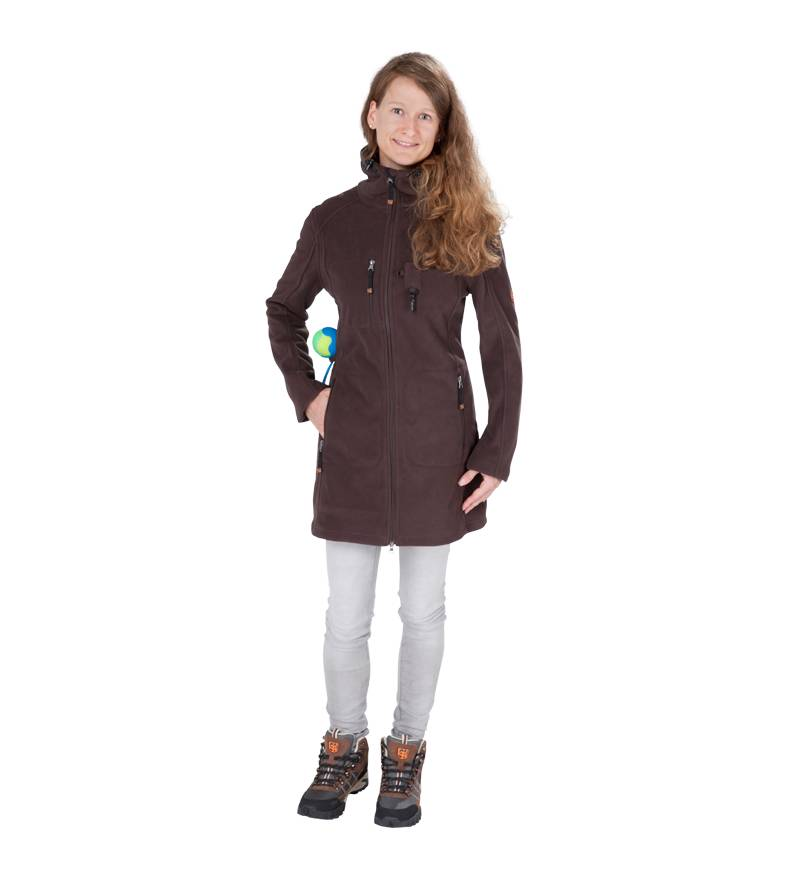 GoodBoy! Damen Fleecejacke ELLA in espresso