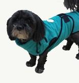 Chillcoat - Superfurdogs Hundebademantel türkis