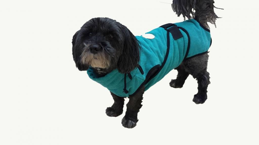 SuperFurDogs Chillcoat - Superfurdogs Hundebademantel türkis