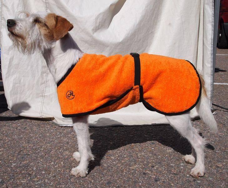 Bademantel für Hunde orange
