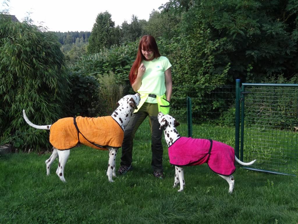Helsitar® Bademantel für Hunde orange