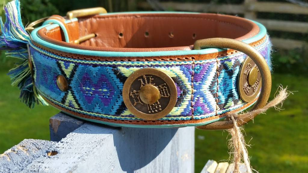 Gypsy Lederhalsband von Dog with a mission® L 4 cm