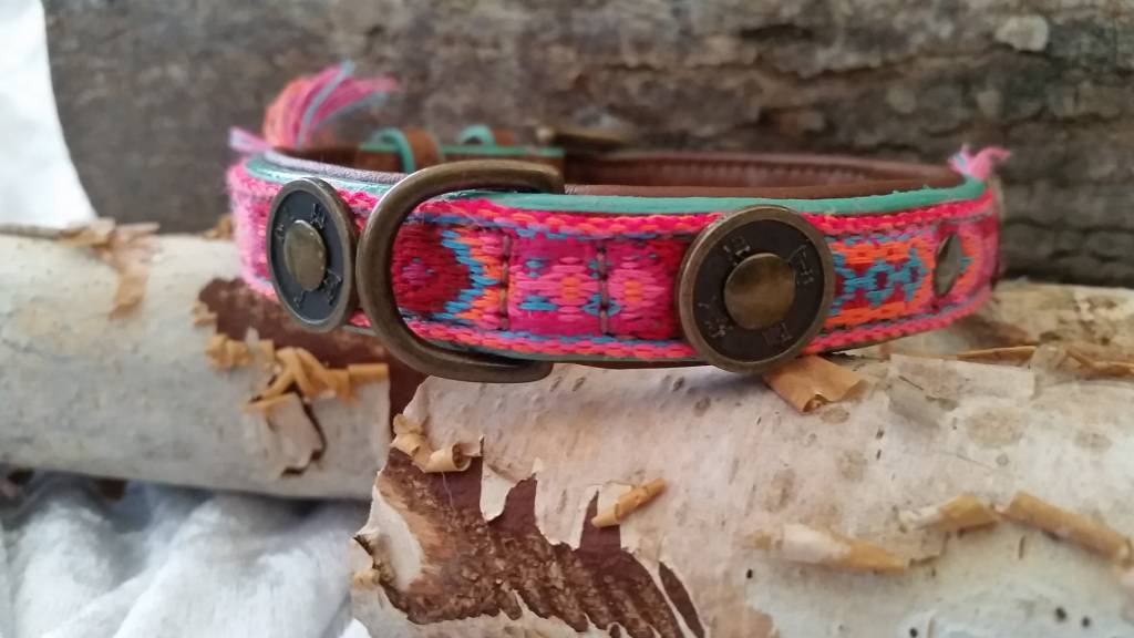 Dog with a mission® Gypsy Lederhalsband von Dog with a mission® S 2 cm