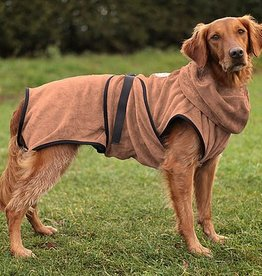 Hundebademantel Chillcoat Premium braun