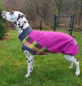"abc4dog Wintermantel ""Softshell"" SquarePink"