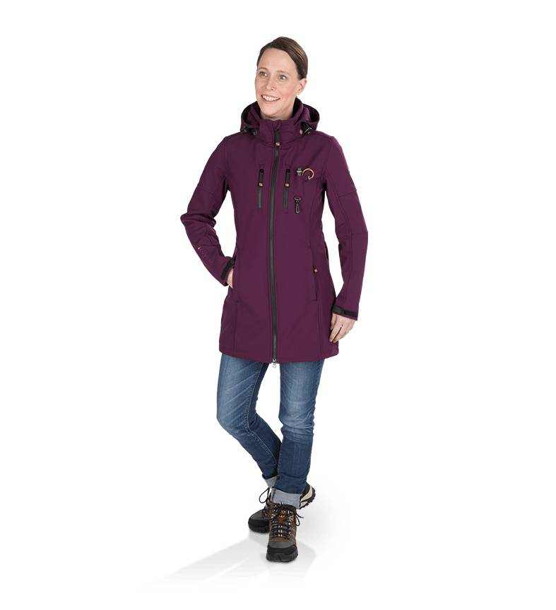 GoodBoy! Damen Softshelllangjacke LYA in brombeer