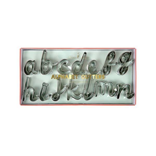 MERIMERI alphabet cookie cutters