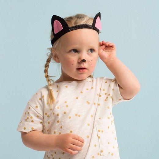 MERIMERI Black cat ears and tail