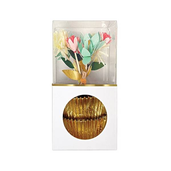 MERIMERI Flower cupcake kit